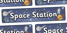 Space Station Display Banner