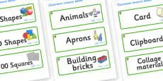 Acorn Themed Editable Classroom Resource Labels