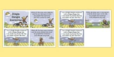Dingle Dangle Scarecrow Nursery Rhyme Cards