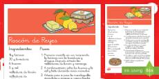 Receta: Roscón de Reyes