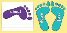 KS1 Keywords on Footprints