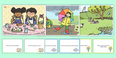Spring Scenes and Question Cards Pack
