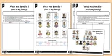 French Activity Sheet Voici Ma Famille