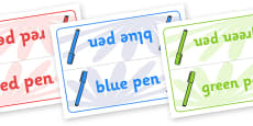 Editable Class Group Table Signs (Pens)