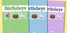 A4 Birthdays Divider Covers