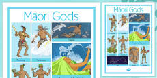 Maori Gods Vocabulary Poster