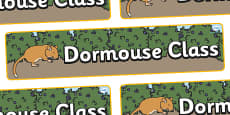 Dormouse Themed Classroom Display Banner