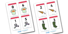 Number Bonds to 6 Matching Cards (Clothing)