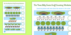 The Three Billy Goats Gruff Counting Sheet