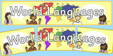 World Languages Display Banner