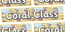 Coral Themed Classroom Display Banner