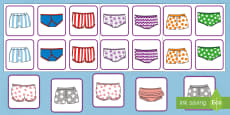 Matching Pants Activity to Support Teaching on Aliens Love Underpants