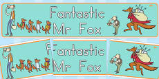 Display Banner to Support Teaching on Fantastic Mr. Fox