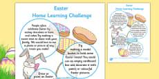 EYFS Easter Home Learning Challenge Sheet Nursery FS1