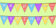 Happy 10th Birthday Bunting