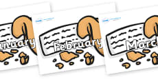 Months of the Year on Fortune Cookies