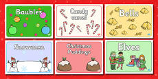 Christmas Group Signs Editable