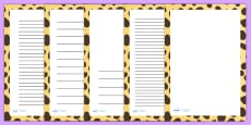 Cheetah Print Page Borders