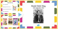 Roald Dahl Day Assembly PowerPoint Presentation