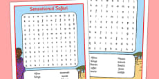 Sensational Safari Kenya Word Search