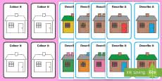 Describe It, Colour It Houses Game