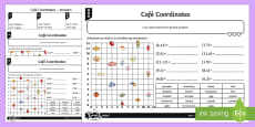 Cafe Coordinates Differentiated Activity Sheets