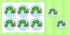 Australia - Circular Picture Cut Outs to Support Teaching on The Very Hungry Caterpillar