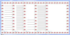 St George's Flag Portrait Page Borders