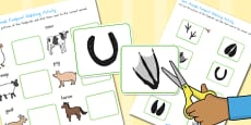 Australia - Farm Animals Footprint Matching Activity