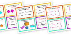 Shape, Space and Measure Challenge Cards
