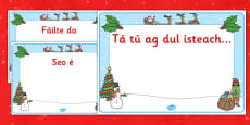 Christmas Editable Class Welcome Signs Gaeilge