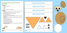 Shape Animals Busy Bag Resource Pack for Parents to Support Teaching on The Gruffalo