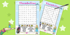 Thumbelina Wordsearch
