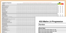 KS3 Maths Low Ability Progression Spreadsheet