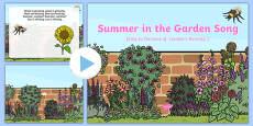 Summer in the Garden Song PowerPoint