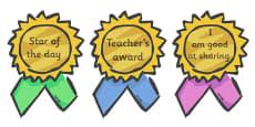 Classroom Award Rosettes