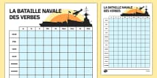 French Verbs Battle Ships Game