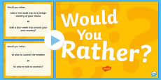 Would You Rather...? PowerPoint USA