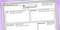 Rapunzel Book Review Writing Frame