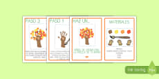 Instrucciones: Crea un árbol de otoño con la huella de tu mano