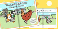 The Little Red Hen eBook EAL Romanian Translation