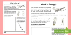 What is Energy? Activity Sheet
