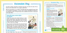 KS2 Ascension Day Differentiated Fact File