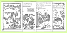 Jack and the Beanstalk Mindfulness Colouring Story Romanian Translation