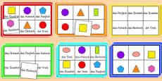 2D Shape Bingo German