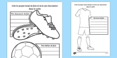 Design a Football Strip French Activity Sheet