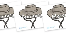 Months of the Year on Cowboy Hats