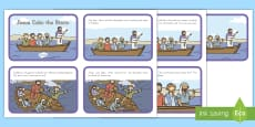 * NEW * Jesus Calms The Storm Story Sequencing Cards