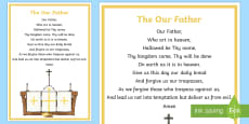 The Our Father A4 Display Poster