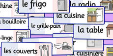 French Kitchen Words Flashcards
